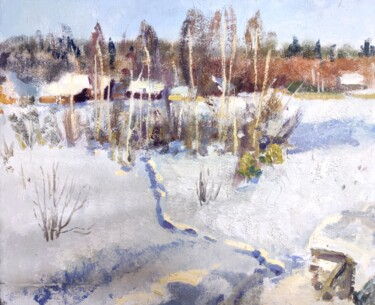 """Painting titled """"The frost."""" by Egorova Maria, Original Art, Oil"""