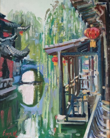 """Painting titled """"Chinese Venice"""" by Egorova Maria, Original Art, Oil"""