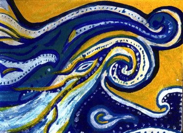 """Painting titled """"Waves"""" by Christine Abercrombie, Original Art,"""