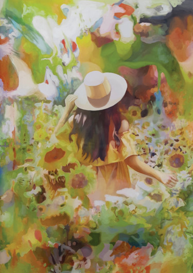 Painting, oil, impressionism, artwork by Gabriel Cristian Matei