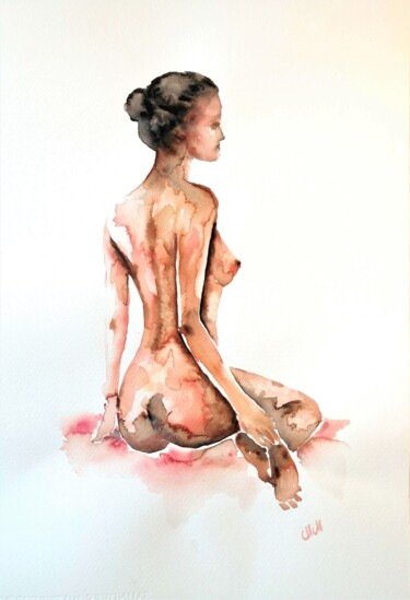 """Painting titled """"Woman's beauty - or…"""" by Mateja Marinko, Original Art, Watercolor"""