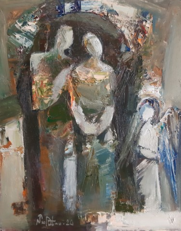 Portrait Painting, oil, abstract, artwork by Mateos Sargsyan
