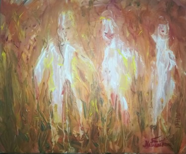 """Painting titled """"A Lovely Group Toge…"""" by Pertti Matikainen, Original Art, Acrylic"""
