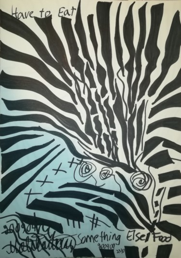 Drawing, marker, abstract, artwork by Pertti Matikainen