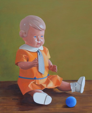 """Painting titled """"Die Puppe (The Doll)"""" by Matthias Kreher, Original Art, Acrylic"""