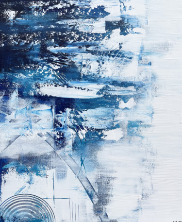 Seascape Painting, acrylic, abstract, artwork by Matthieu Joncour