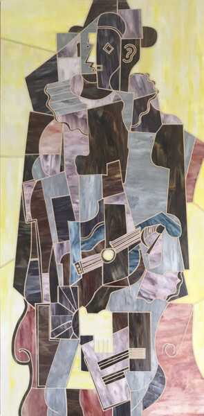 """Collages titled """"HARLEQUIN"""" by Maurimosaic, Original Art, Mosaic Mounted on Wood Panel"""