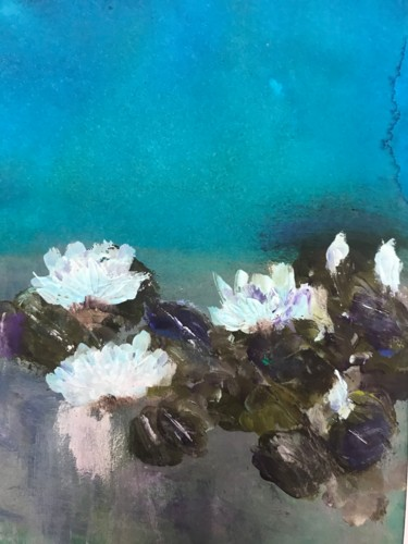 """Painting titled """"Waterlilies 10"""" by Maxine Martin, Original Art, Acrylic"""