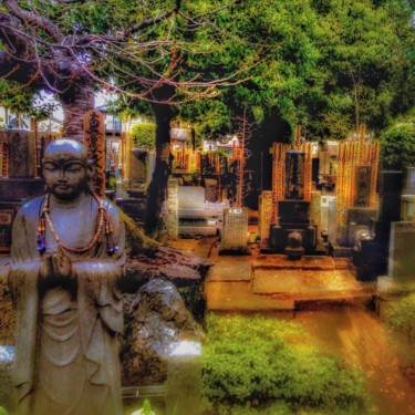 """Photography titled """"Cimetière Tokyo"""" by Patrick Maze, Original Art, Non Manipulated Photography"""