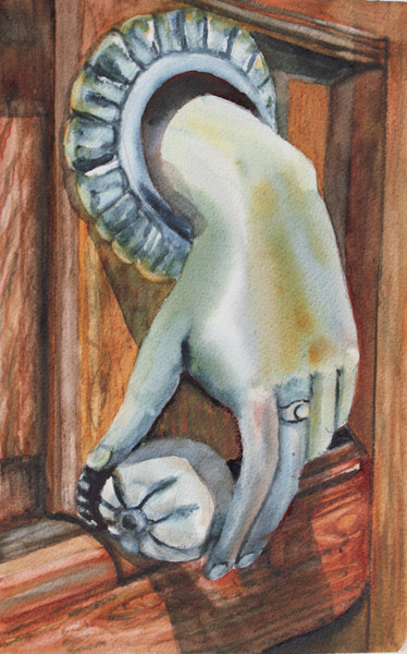 Painting, watercolor, figurative, artwork by Agnes Mclaughlin