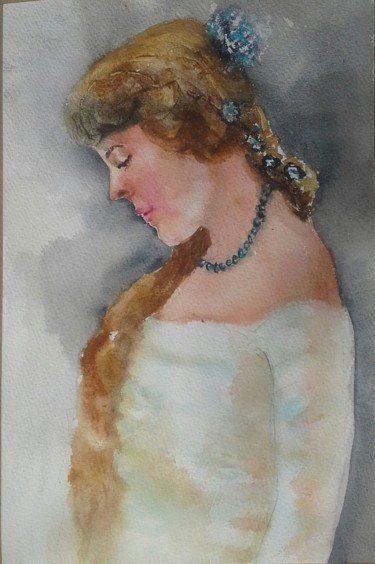 Painting, watercolor, artwork by Agnes Mclaughlin