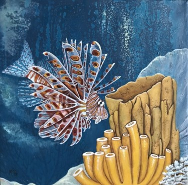 Fish Painting, acrylic, hyperrealism, artwork by M'Do