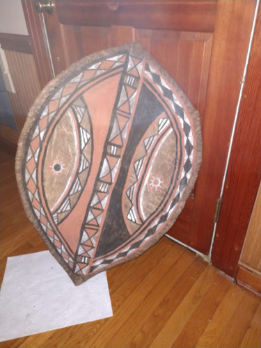 """Sculpture titled """"Rare Authentic Afri…"""" by Mary Rainey, Original Art, Tapestry"""