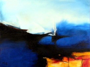 """Painting titled """"Blue Force Of Nature"""" by Isabelle Zacher-Finet, Original Art, Oil"""
