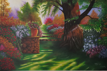 """Painting titled """"Floral Silence"""" by Mela Calkic, Original Art, Acrylic"""