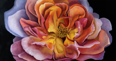 """Painting titled """"Peony, Love At Firs…"""" by Melanie Renaux, Original Art, Oil"""