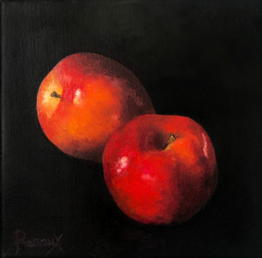 """Painting titled """"Temptation II Red A…"""" by Melanie Renaux, Original Art, Oil"""