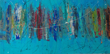 Painting, acrylic, abstract, artwork by Melanie Cotton