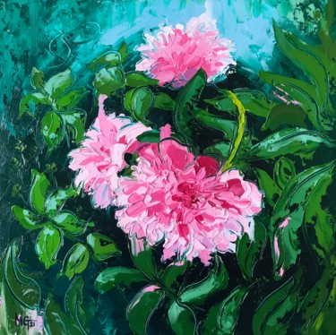 Flower Painting, oil, impressionism, artwork by Melissa Gee