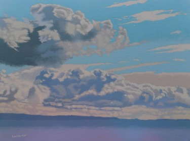 """Painting titled """"Clouds over the Cly…"""" by Malc, Original Art, Acrylic"""