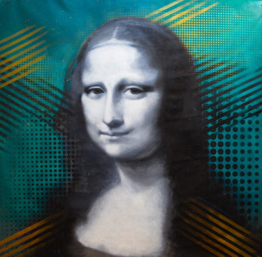"""Painting titled """"The Mona Lisa - La…"""" by Michael Andrew Law, Original Art, Acrylic"""