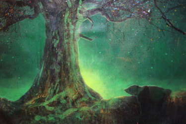 """Painting titled """"Untitled (Emerald E…"""" by Michael Andrew Law, Original Art, Acrylic"""