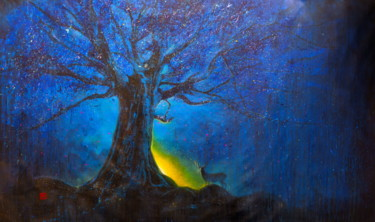 """Painting titled """"Untitled (Blue Even…"""" by Michael Andrew Law, Original Art, Acrylic"""