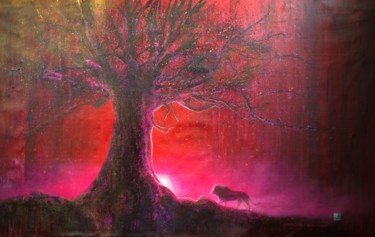 """Painting titled """"Untitled (Red Eveni…"""" by Michael Andrew Law, Original Art, Acrylic"""