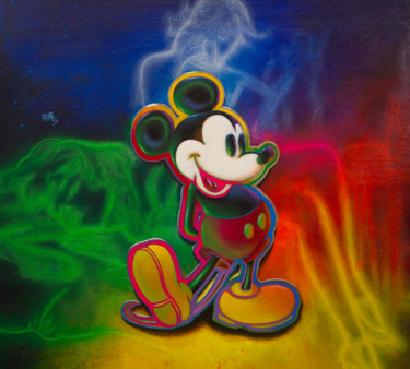 """Painting titled """"Untitled (Mickey Mo…"""" by Michael Andrew Law, Original Art, Acrylic Mounted on Wood Panel"""