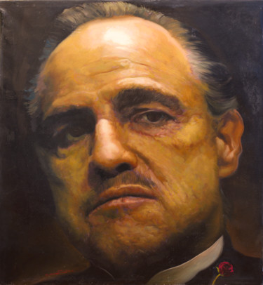 """Painting titled """"Marlon Brando as """"T…"""" by Michael Andrew Law, Original Art, Oil"""