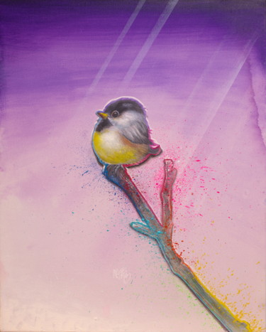 """Painting titled """"Untitled (Cute Baby…"""" by Michael Andrew Law, Original Art, Acrylic Mounted on Wood Panel"""