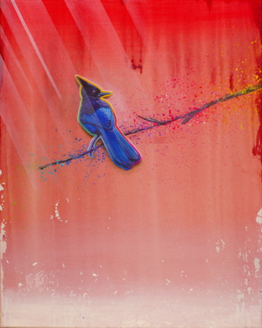 """Painting titled """"Untitled ( Cute Blu…"""" by Michael Andrew Law, Original Art, Acrylic Mounted on Wood Panel"""