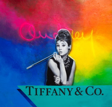 """Painting titled """"Audrey Hepburn as H…"""" by Michael Andrew Law, Original Art, Acrylic"""