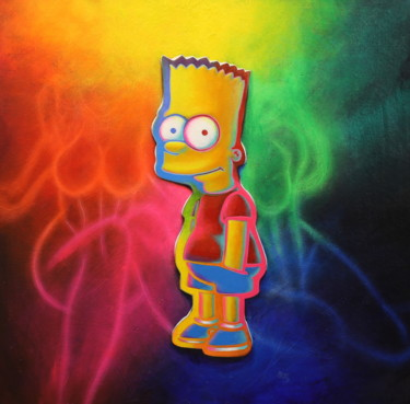 """Painting titled """"Untitled ( Bart Sim…"""" by Michael Andrew Law, Original Art, Acrylic"""