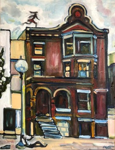 Painting, oil, expressionism, artwork by Michael Kent