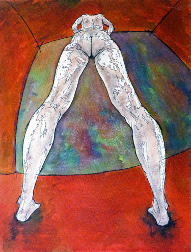 """Digital Arts titled """"Private View"""" by Michael Lawrence, Original Art, Ink"""