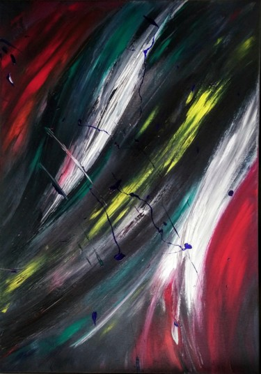 """Painting titled """"Lost souls"""" by Michael Denart, Original Art, Acrylic Mounted on Stretcher frame"""
