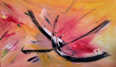 """Painting titled """"Rising"""" by Michael Denart, Original Art, Acrylic Mounted on Stretcher frame"""
