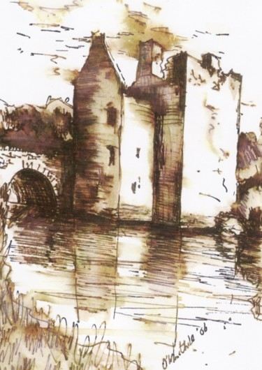 Drawing, ink, figurative, artwork by Micheal O Muirthile
