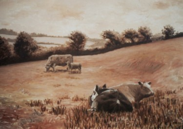 Painting, oil, impressionism, artwork by Micheal O Muirthile