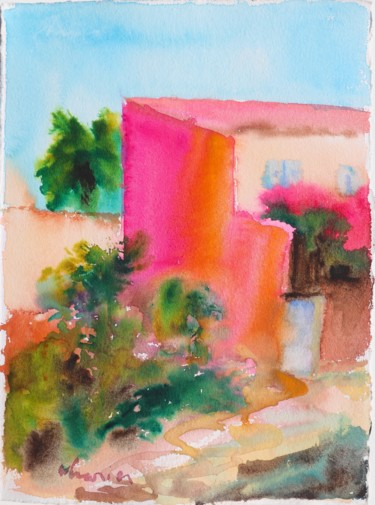 Color Painting, watercolor, fauvism, artwork by Michel Charrier