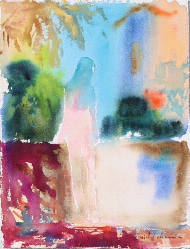 """Painting titled """"Exquisite bite of t…"""" by Michel Charrier, Original Art, Watercolor"""