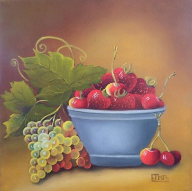 Still life Painting, oil, hyperrealism, artwork by Marie-Thérèse Le Trionnaire
