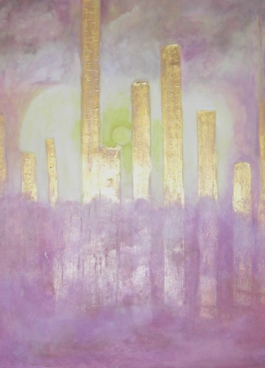 Painting, oil, conceptual art, artwork by Michela Curtis