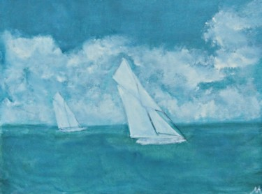 """Painting titled """"Sailing"""" by Michela Curtis, Original Art, Oil"""