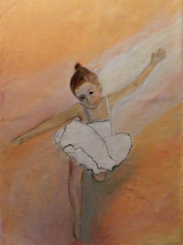 """Painting titled """"In The Spotlight"""" by Michela Curtis, Original Art, Oil Mounted on Other rigid panel"""