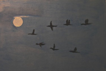 """Painting titled """"Full Moon"""" by Michela Curtis, Original Art, Oil"""