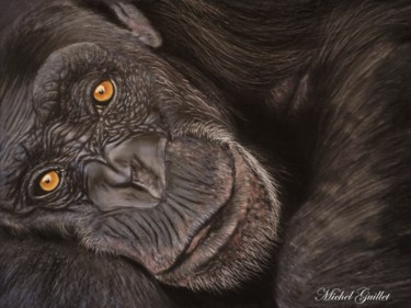 Animal Drawing, pastel, figurative, artwork by Michel Guillet
