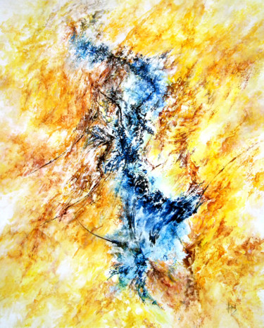 Abstract Painting, acrylic, abstract, artwork by Claude Micheli
