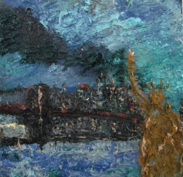 """Painting titled """"New York"""" by Michele Principato Trosso, Original Art, Oil"""